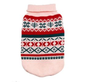 OutTop Dogs Cold Weather Knitted Turtle Neck 3D Patterns Sweater Small-Sized Dogs Dachshund, Poodle, Pug, Chihuahua, Shih Tzu, Yorkshire Terriers, Papillon 2