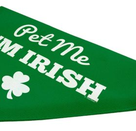 ThisWear Dog St Patricks Day Gifts Pet Me I'm Irish Funny Cute Dog Gift Lap Dog Clothes St Patricks Day Outfits for Dogs Small Dog Bandana Scarf 2