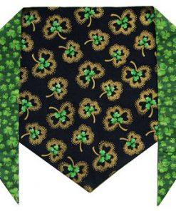 """St. Patrick's Day Dog Bandana - St. Patrick's Shamrocks (S) Ties on 9"""" - 10"""" neck - 1"""