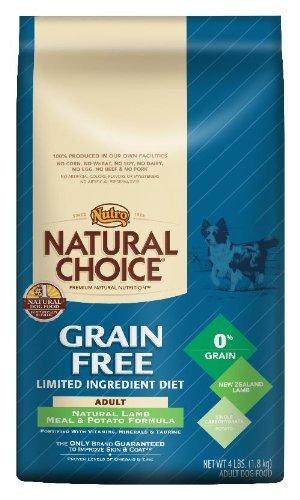 Natural Choice Dog Grain Free Lamb Meal and Potato Formula Adult Dog Food, 4-Pound - 1