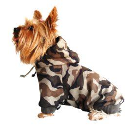 Camouflage Drawstring Pet Hoodie - 1