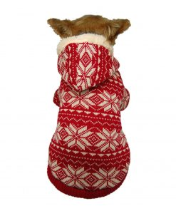 Anima Red Snowflake Hoodie for Pets