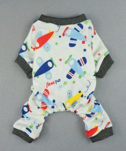 Fitwarm® Adorable Soft Planes Dog Pajamas for Pet Cat Dog Pjs Clothes - 2