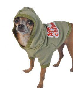 Ruff Ruff and Meow Dog Hoodie, Aye Chihuahua, Green, Extra-Small - 2