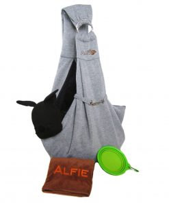 Alfie Pet by Petoga Couture - 3-Piece Dog Park Bundle Chico 2.0 Revisible Pet Sling Carrier, Microfiber Fast-Dry Towel, Rosh Collapsible Travel Bowl