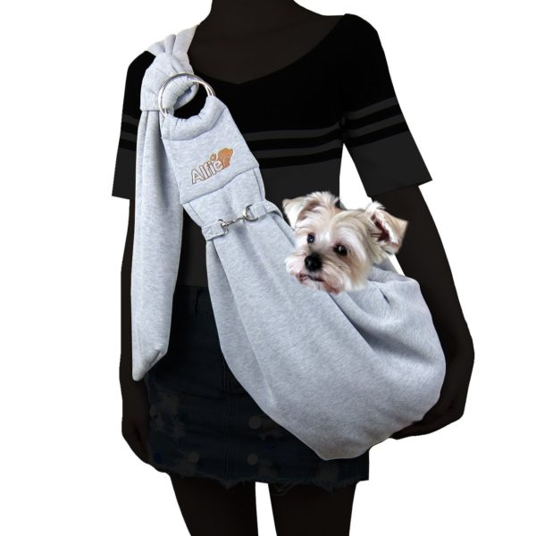 Alfie Pet by Petoga Couture - 3-Piece Dog Park Bundle Chico 2.0 Revisible Pet Sling Carrier, Microfiber Fast-Dry Towel, Rosh Collapsible Travel Bowl 2