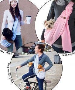 Alfie Pet by Petoga Couture - 3-Piece Dog Park Bundle Chico 2.0 Revisible Pet Sling Carrier, Microfiber Fast-Dry Towel, Rosh Collapsible Travel Bowl 4