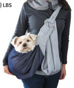 Alfie Pet by Petoga Couture - 3-Piece Dog Park Bundle Chico 2.0 Revisible Pet Sling Carrier, Microfiber Fast-Dry Towel, Rosh Collapsible Travel Bowl 5
