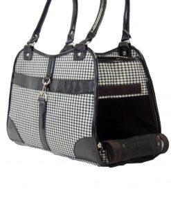 Houndstooth Print Shoulder Bag Carrier
