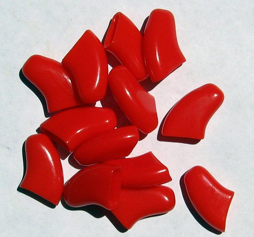 Soft Nail Caps For Dog Claws RED X-SMALL SIZE * Purrdy Paws Brand-1
