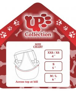 UP Collection Bow Cap for Dogs, Fuchsia Hearts-3