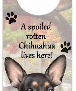 E&S Pets Chihuahua Pet Doorknob Note