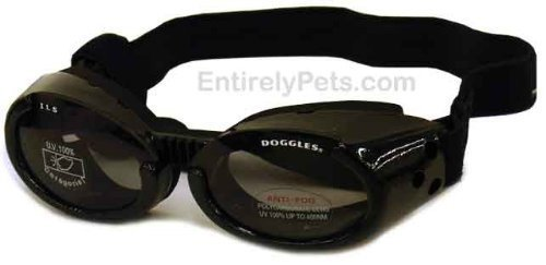 Doggles ILS Interchangeable Lens System Metallic Black Frame / Smoke Lens, Sizes: Extra Small