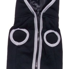 Dog Hoodie Sweatshirt Jacket, Black Small-2
