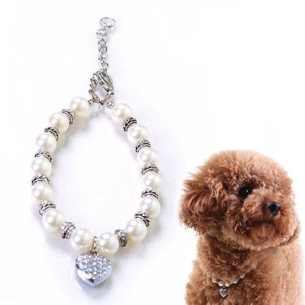 Alfie Couture Designer Pet Jewelry Zoe Crystal Heart