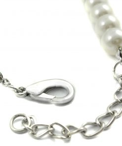 Alfie Couture Designer Pet Jewelry - Alea Pearl Necklace with Crystal Anchor for Dogs and Cats-4