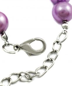 Alfie Couture Designer Pet Jewelry - Jinny Pearl Necklace with Bells for Dogs and Cats-7