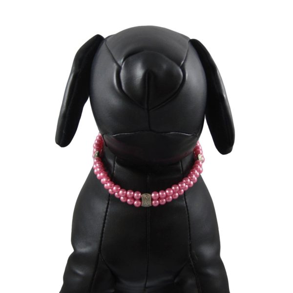 Alfie Couture Designer Pet Jewelry - Nea Double Layer Pearl Necklace for Dogs and Cats-2