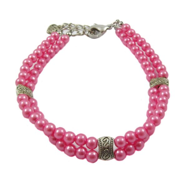 Alfie Couture Designer Pet Jewelry - Nea Double Layer Pearl Necklace for Dogs and Cats-3
