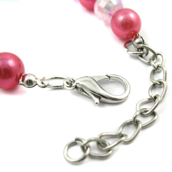 Alfie Couture Designer Pet Jewelry - Eliza Crystal Crown Pearl Necklace for Dogs and Cats-3
