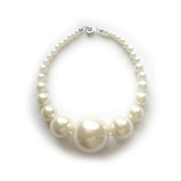 SACAS White Pearl Dog Necklace -- 3 Sizes Available