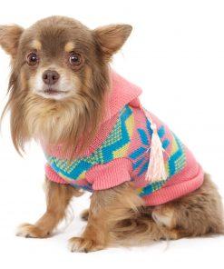 "UrbanPup Alpine Hooded Sweater (X-Small - Dog Body Length: 8"" / 20cm) - 1"