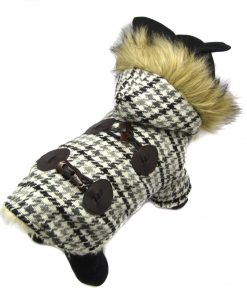 Alfie Pet by Petoga Couture - Bailey Fur Hooded Coat - Color: Grey - 1