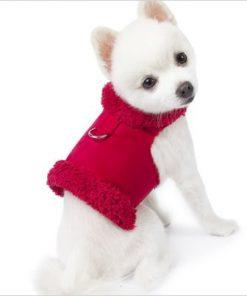 "Bowzer Dog Harness Coat by Susan Lanci - Red - XXS (8""-10"" girth) - 1"