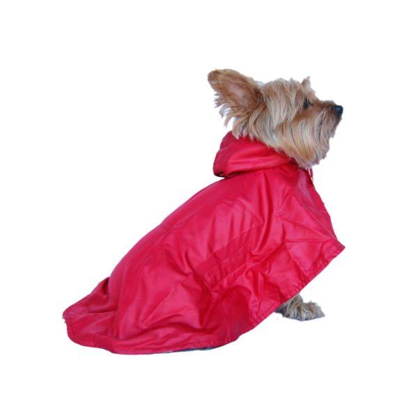Anima Red Water Resistant Nylon Windbreaker Rain Coat, X-Small - 1