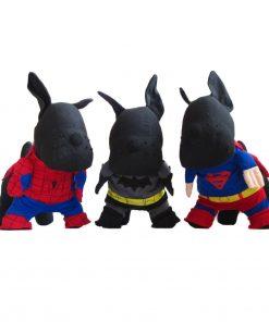Alfie Pet by Petoga Couture - Superhero Costume 3-Piece Set: Batman, Spiderman and Superman - 1