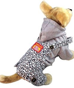 Pet Cat Dog Coat Jumper Jumpsuit Straps Stripes Small Dog Clothes Sweaters XS S M L XL - 1