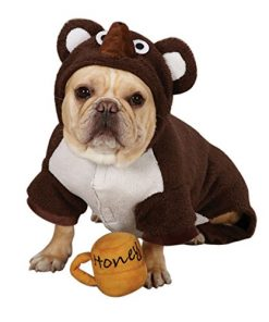 Zack & Zoey Polyester Lil Honey Bear Dog Costume, Small, Brown - 1