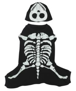 Casual Canine Cotton Glow Bones Dog Costume, X-Small, 8-Inch - 1