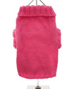 """UrbanPup Bruiser's Pink Knitted Sweater (Small - Dog Body Length: 10"""" / 25cm) - 1"""