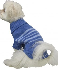 Dogit Style Striped Dog Sweater, Small, Blue