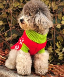 Pet Dog Sweater Pullover Christmas Snowman Red and White for Small Pets - 2
