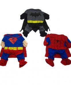 Alfie Pet by Petoga Couture - Superhero Costume 3-Piece Set: Batman, Spiderman and Superman - 3
