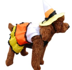 Anit Accessories Candy Corn Dog Costume, 16-Inch - 2