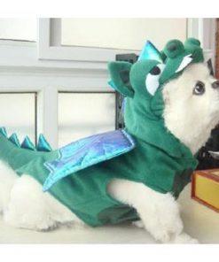 Alfie Couture Designer Pet Apparel - Smokie the Dragon Dinosaur Costume - 4