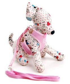 Adjustable Mesh Vest Harness with Leash for Pet Dog Cat 3