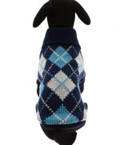 "UrbanPup Blue Argyle Sweater (Small - Dog Body Length: 10"" / 25cm) - 6"