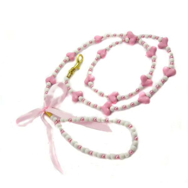 Alfie Couture Designer Pet Accessory - Dionne Heart Beads Leash