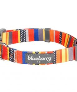 Blueberry Pet Dog Collar Nautical Flags Inspired Designer Basic Polyester Nylon Dog Collar 2