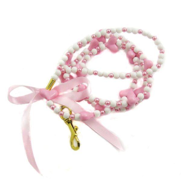 Alfie Couture Designer Pet Accessory - Dionne Heart Beads Leash 2