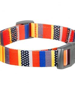 Blueberry Pet Dog Collar Nautical Flags Inspired Designer Basic Polyester Nylon Dog Collar