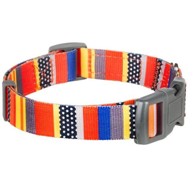 Blueberry Pet Dog Collar Nautical Flags Inspired Designer Basic Polyester Nylon Dog Collar