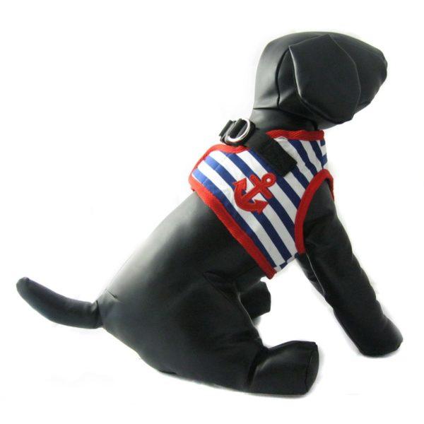 Alfie Couture Designer Pet Accessory - Vince Sailor Harness and Leash Set 3