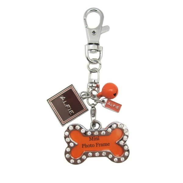 Alfie Pet by Petoga Couture - Erin Adjustable Tangle-Free Dual Leash with Photo Charm Keychain Set 7