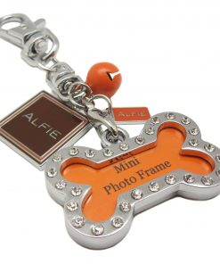 Alfie Pet by Petoga Couture - Erin Adjustable Tangle-Free Dual Leash with Photo Charm Keychain Set 9
