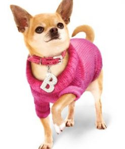 """UrbanPup Bruiser's Pink Knitted Sweater (Small - Dog Body Length: 10"""" / 25cm) - 9"""